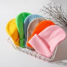 Зимние шапки для женщин, Новые Вязаные флуоресцентные шапки для девочек, осенние женские шапки, теплые шапки, Женская Повседневная шапка
