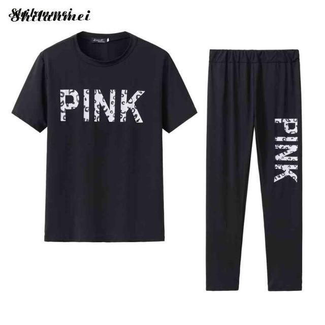 женский спортивный костюм с надписью повседневный розовый комплект фотография