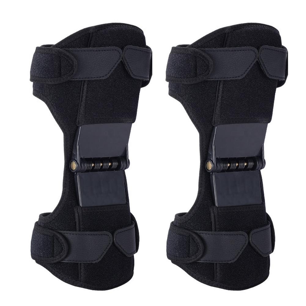 Knee Support Pads Adjustable Knee Support Booster Amplifier Powerful Return Spring Bidirectional Straps For Relieving Joint Pain