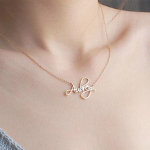 Custom Baby Necklaces Script Style Cursive Name Necklaces Silver Gold Rose Child Choker Women Necklace Wedding Bridesmaid Gift handmade custom jewelry any personalized name necklaces women men silver gold rose choker necklace engraved bridesmaid gift idea