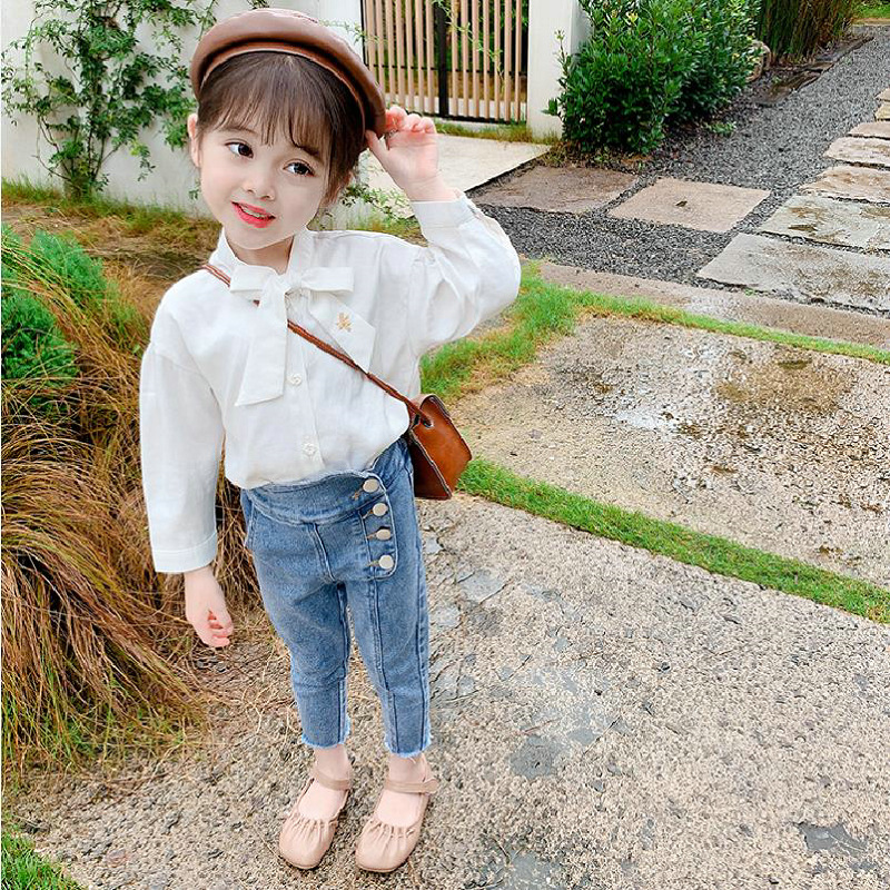 2021 Autumn New Arrival Girls Fashion Denim Pants Kids Jeans Trousers  Kids Jeans Girls 3