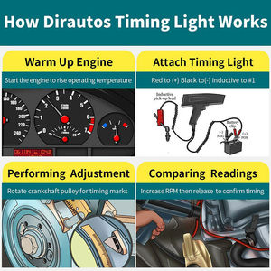 Image 3 - Car Motorcycle 12V Ignition Timing Light Strobe Lamp Inductive Petrol Automotive Scanner Engine Timing Gun Auto Diagnostic Tool