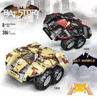 Legoing Technik Auto Motor Elektrische Fahrzeuge APP Fernbedienung Lkw Legoings Film 2 Bat Wagen Bausteine Kinder Spielzeug
