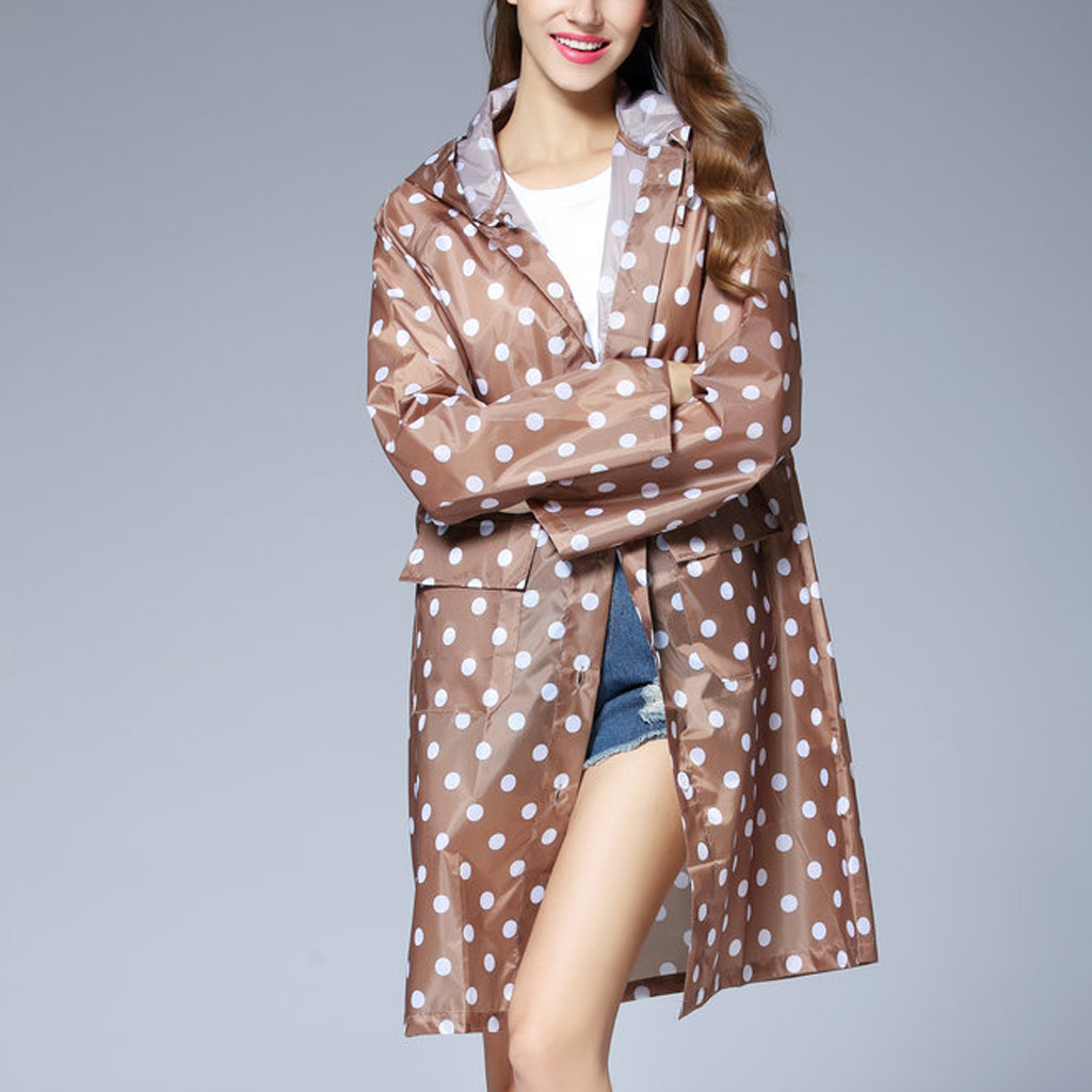 2019 New Popular Ladies Raincoat Windbreaker Jacket Poncho Women's Wave Rain Jacket Outdoor Waterproof Windproof Coat Outwear(China)