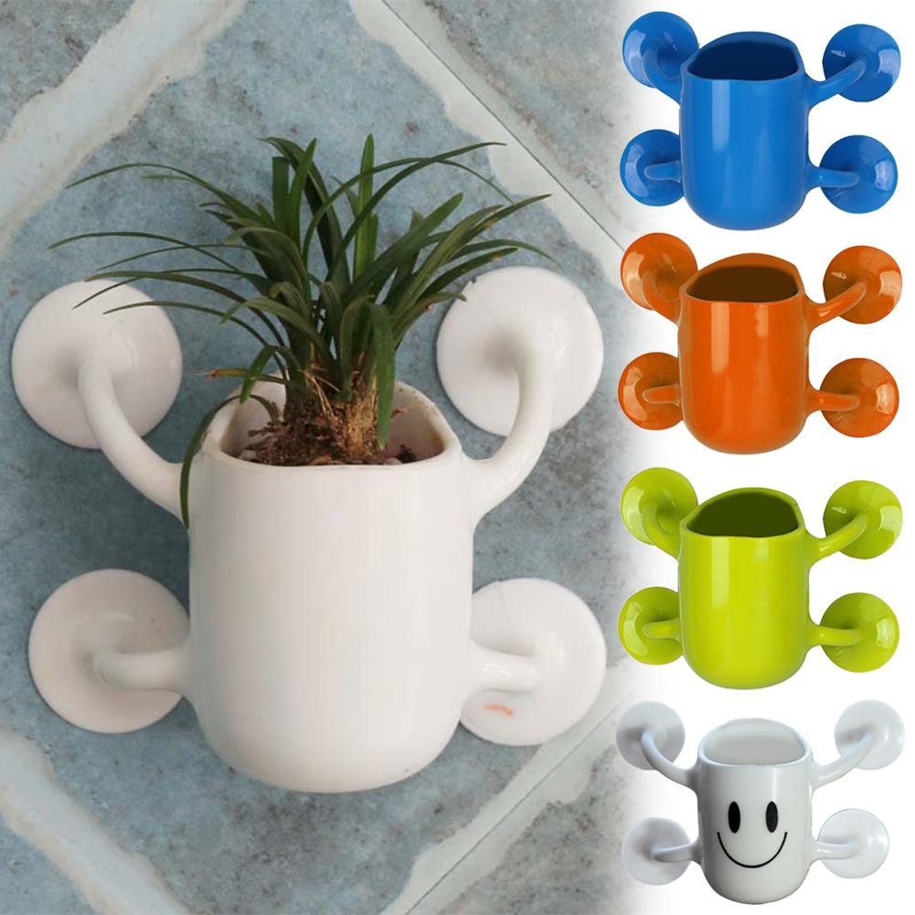 Creative Mini Flower Pots Bonsai Pants With Suction Cup Wall Flowerpot Flowers Cactus Culture Container Home Office Decor Plante