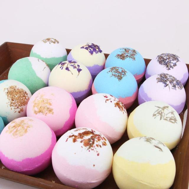 Soap Handmade Essential Oil Soap Moisturizing Bath Salt Ball Soap Bubble Shower Bombs Ball Body Cleaner SPA Skin Care for Gifts 3