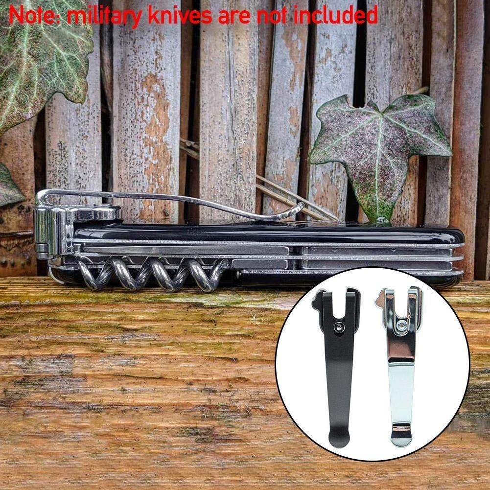Складной Ножи с креплением сзади Сталь глубокий переносной карман на талии заменитель зажима для 91 мм швейцарский армейский нож инструмент...