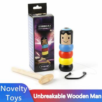 New 1 Set Magic Toy Close Up Stage Magic Props Fun Toy Accessory Immortal Doll Unbreakable Wooden Man Magic Trick Christmas Gift 1