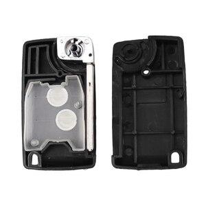 Image 5 - KEYYOU Modified Folding Car key Case For Peugeot 206 306 307 107 207 407 Partner For Citroen C1 C2 C3 C4 Picasso Xsara 2 Buttons
