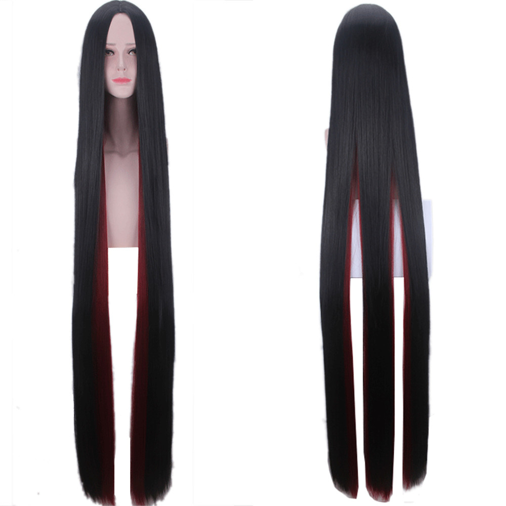 Land Of The Lustrous Costume Cosplay <font><b>Wigs</b></font> For Women Houseki No Kuni Bort <font><b>150cm</b></font> Black Wine Red Straight Synthetic Hair <font><b>Wig</b></font> image