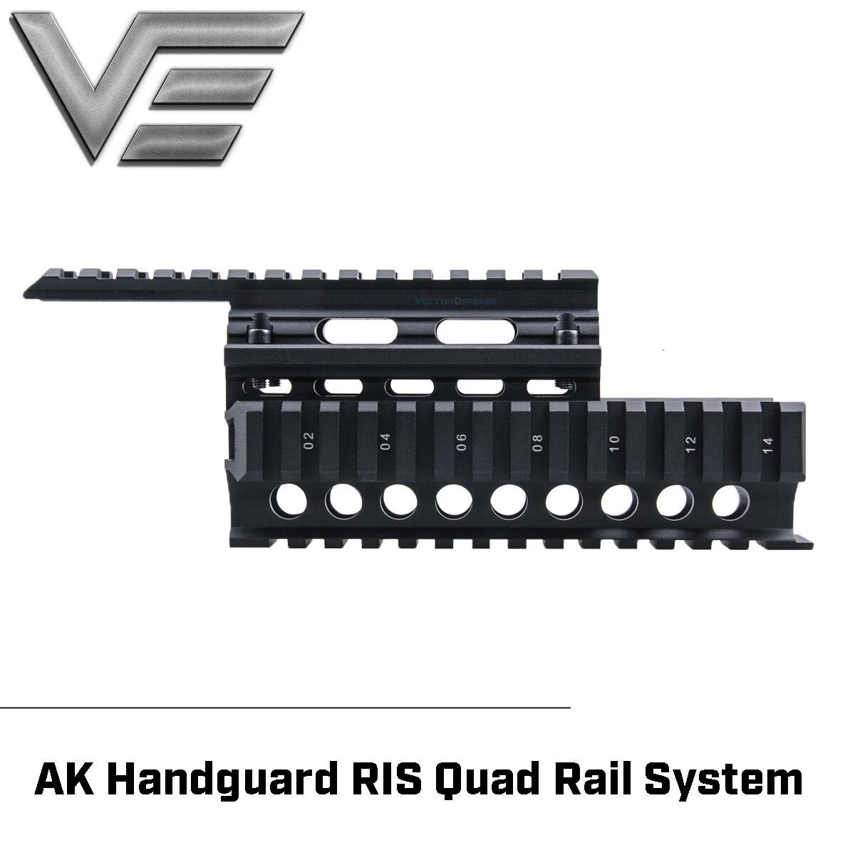 Vecteur optique 2 pièces Handguard Quad Rail système de montage fit AK 47 & 74 gratuit Rail couverture gardes