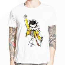 The Queen Band Freddie Mercury summer Comic Men T-shirt Short sleeve O-Neck Fashion t-shirt Harajuku Cool male Tshirt HCP4535