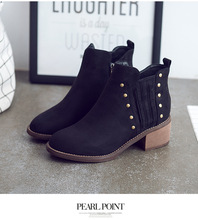 Ankle Boots Suede Leather For Women Lace Up Platform Boots Women Boots Street Style Shoes