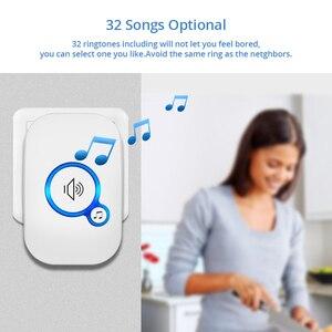 Image 3 - KERUI 무선 스마트 초인종 홈 보안 알람 Welcome Doorbell LED Light 32 방수 버튼이있는 노래 쉬운 설치