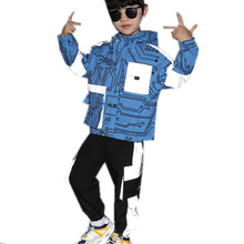 Children Sport Suit Spring Autumn Reflective Clothing Hoodie Outerwear + Pants for Boys