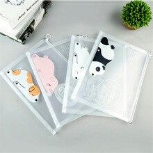 Bag File-Folder Stationery Documents-Bag Desk-Organizer A4 File-Bag-Pen-Bag Transparent