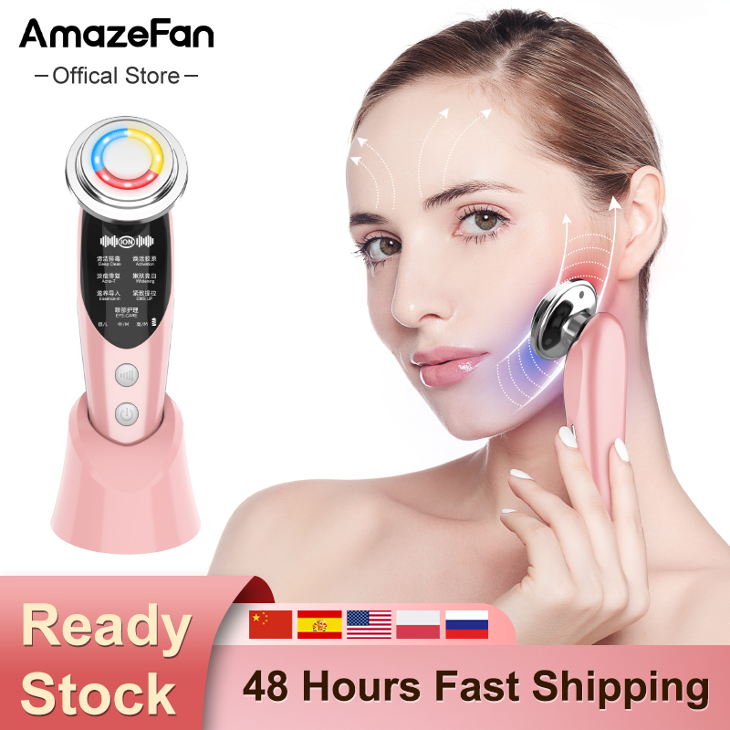AmazeFan7in1RF&EMS Radio Mesotherapy Electroporation lifting Beauty LED Face Skin Rejuvenation Remover Wrinkle Radio Frequency 1
