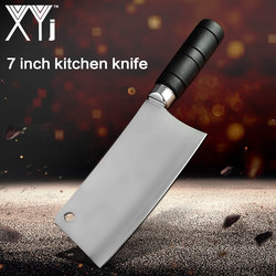 XYj Chinese Cleaver Kitchen Knife Chef's Cooking Knife Carbon Cooking Knife Faca De Cozinha High Quality Stainless Steel Cutlery