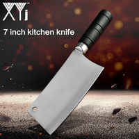 Xyj chinês cutelo faca de cozinha do chef faca de cozinha de carbono faca de cozinha talheres de aço inoxidável de alta qualidade