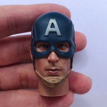 In Stock 1/6 Scale Male Head Sculpt Captain America Head Carved Accessory Model with Helmet for 12'' Action Figure Body 1 6 head sculpt the avengers 2 captain america steve rogers no neck head carving model for 12 action figure toys accessories