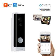 HD 1080P akıllı WiFi Video kapı zili kamera görsel interkom gece görüş IP kapı zili kablosuz Amazon Alexa Echo