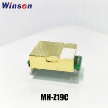 2 pces winsen co2 sensor MH-Z19C ndir co2 módulo de alta sensibilidade baixo consumo de energia uart pwm saída longa tempo ouro câmara