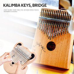 20 Keys Kalimba Steel Keys Instrument Replacement +Wood Bridge Kit Musical Parts Playing Accessories for Music Lovers