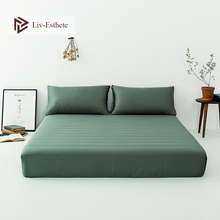 Liv-Esthete New 100% Stain Silk Healthy Fitted Sheet Silky Mattress Cover Queen King Bed Sheets Pillowcase For Women Men Kids