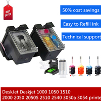 Europe Preferred Refillable Ink Cartridge for HP Deskjet 1000 1050 1510 2000 2050 2050S 2510 2540 3050a 3054 Printer