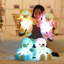 50cm créatif éclairage LED ours en peluche animaux en peluche jouet coloré brillant cadeau de noël pour enfants oreiller