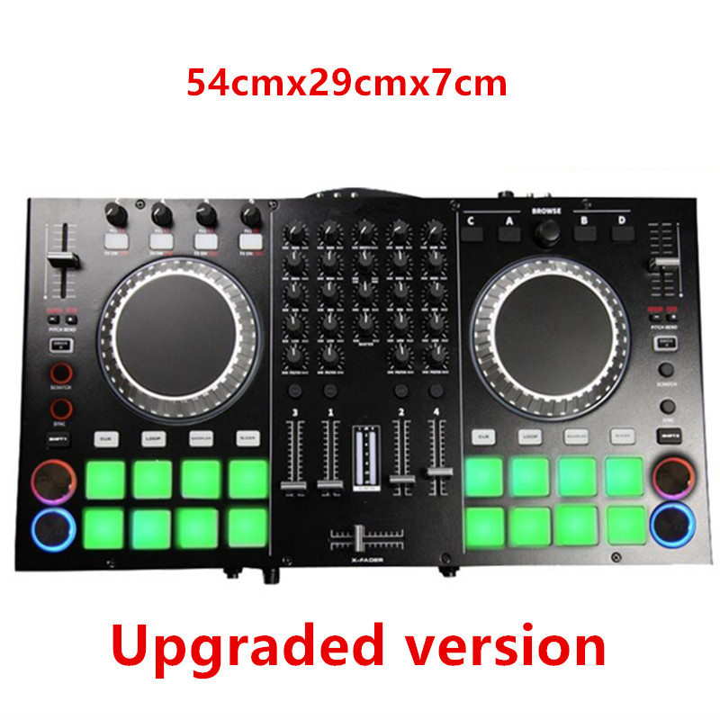 2 Channel Audio Controller Computer Dj Disc Machine EQ Balance Music Control 8 Sound Driver Mixes Microphone Headset Connection