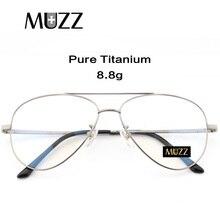 Marco de prescripción de titanio puro piloto de hombres de gran tamaño gafas montura óptica miopía gafas Marco de alta calidad p