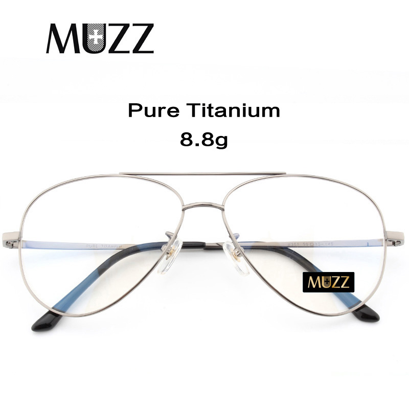 Pure Titanium Prescription Frame Pilot Men Oversize Eye Glasses Frame Optical Myopia Eyeglasses High quality Frame for WomenMens Eyewear Frames   -