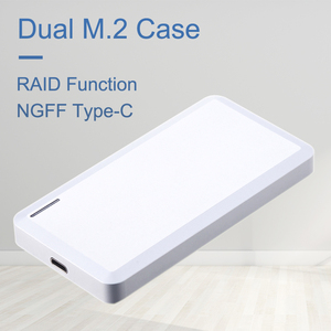 Uneatop Dual Bay USB3.1 tipo-C a M.2 NGFF External SSD HDD Enclosrue para clave B + M Disco Duro caso