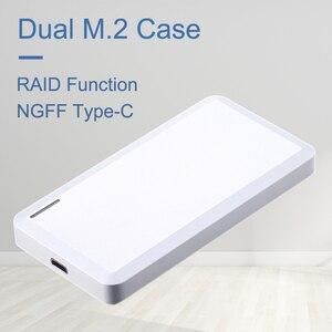 Uneatop Dual Bay USB3.1 type-C к M.2 NGFF внешний SSD HDD enclosrout для B + M ключ жесткий диск чехол