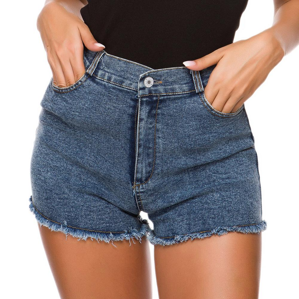 Vintage High Waist Crimping Denim Shorts Women 2019 Korean Style  New Casual Shorts Jeans Summer Hot Short Pants Ladies