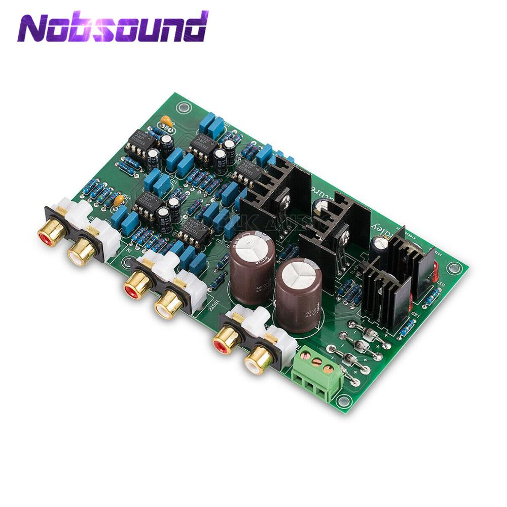 Nobsound Linkwitz-Riley 2-way Frequency Divider Stereo Preamp Board Treble Bass Crossover