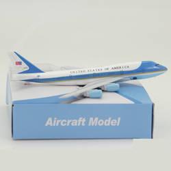 16 см Boeing B747-300 модель Air Force One 1:400 масштаб с авиационным основанием сплав самолет коллекционный дисплей Игрушечная модель