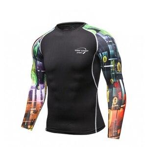 Image 3 - Mans spor eğitimi egzersiz T shirt erkek moda spor koşu gömlek Casual erkek giyim T Shirt erkek T shirt hızlı kuru
