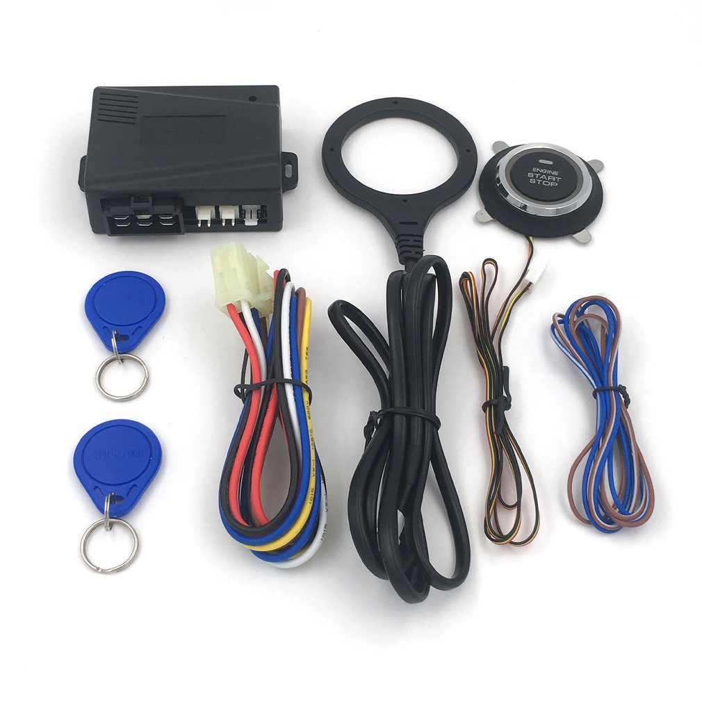 High Quality NQ-ST9005 12v Universal RDID Dark Lock Anti-theft Device Car One-button Start Modification System