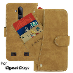 На Алиэкспресс купить чехол для смартфона vintage leather wallet gigaset gx290 case 6.1дюйм. flip luxury card slots cover magnet stand phone protective bags