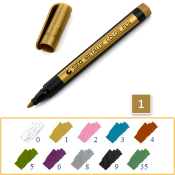 Μεταλλικό Χρώμα Ζωγραφικής 1.5mm Αδιάβροχο Μόνιμο DIY Διάφορα Μεταλλικά Χρώματα Σπίτι - Γραφείο - Επαγγελματικά Γραφείο MSOW