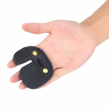 Archery Finger Guard Protection Pad Glove Tab Bow Arrow Cow Leather Hunting Shooting Protector Sports 5