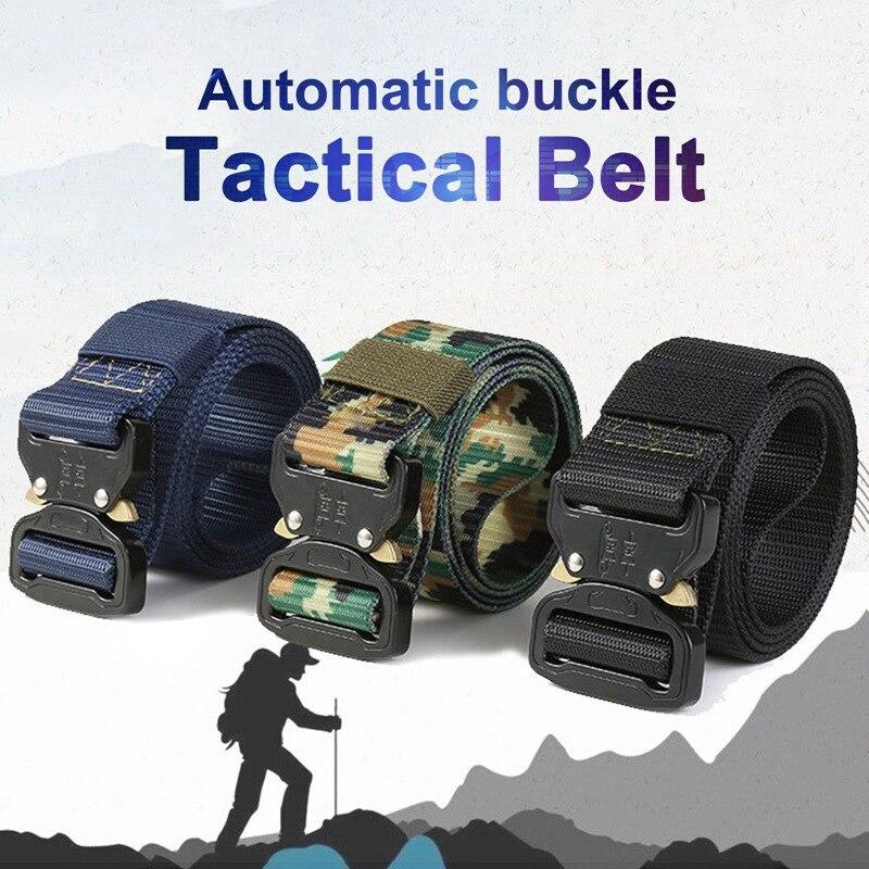 125cmx3.8cm Belt Male Tactical military Canvas Belt Army Outdoor Tactical Belt men's Military Nylon Belts