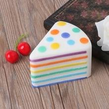 Triangle Rainbow Squishy Cake Anti Stress PU Slow Rising Toys Gift For Kids