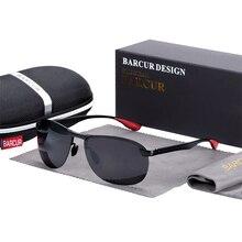 BARCUR New Men Sunglasses Pilot Driving Sun glass Polarized