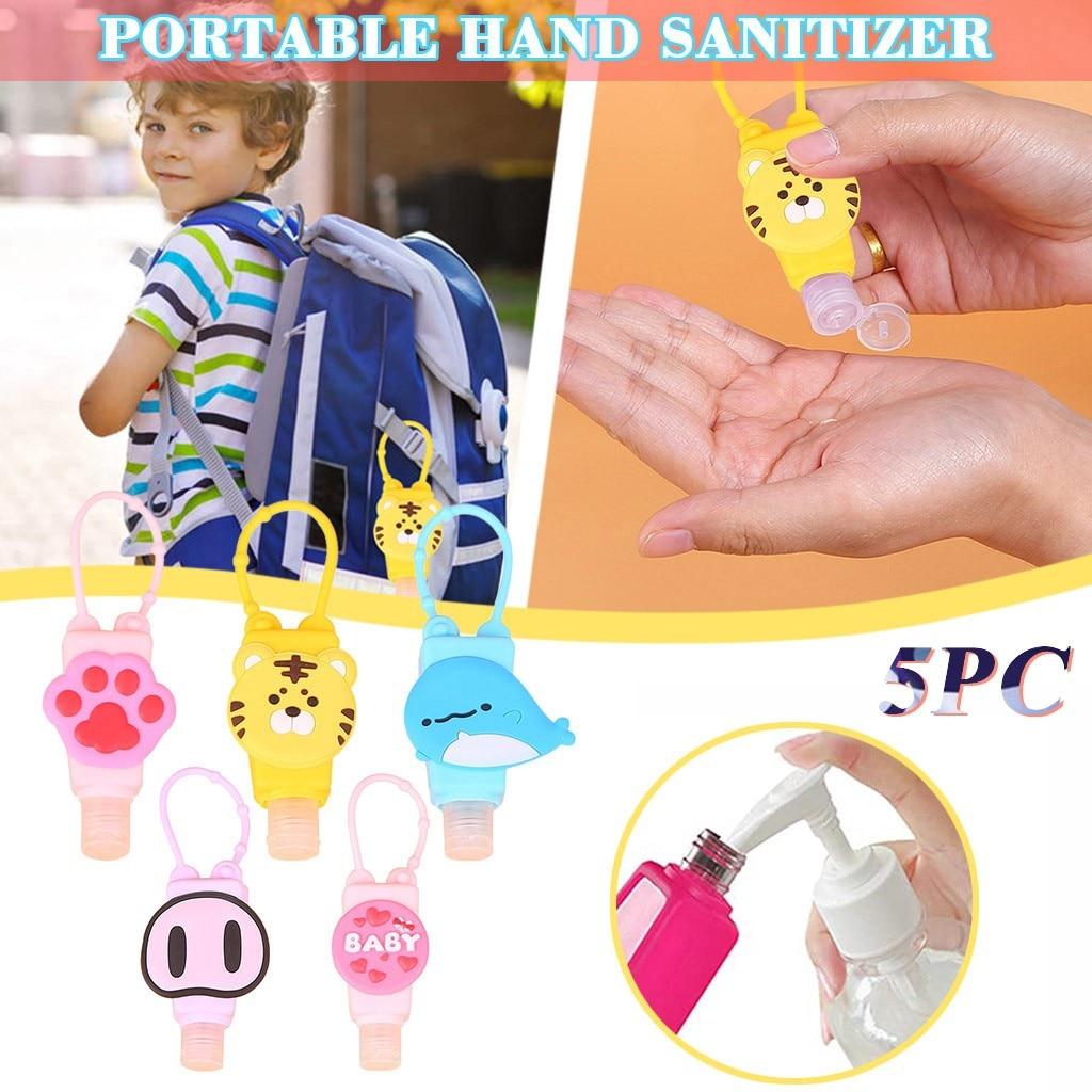 5PC Hand Sanitizer Dispensing Portable Bracelet Wristband Hand Dispenser 30ml Dispensing Bracelet Hand Pumps Disinfectant