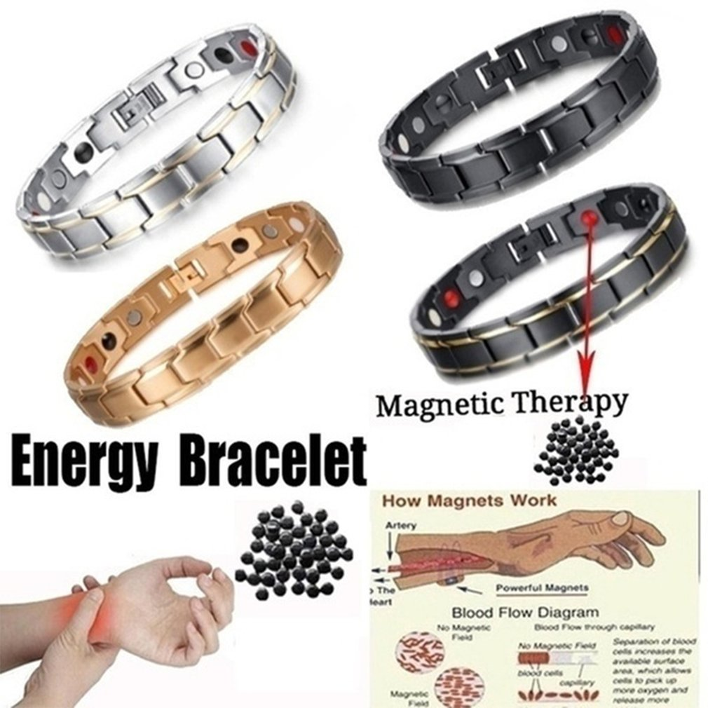 Men Bracelet Health Care Weight Loss Magnetic Therapy Elemental Bracelet Arthritis Pain Relief Energy Bio Magnetic Male Gift