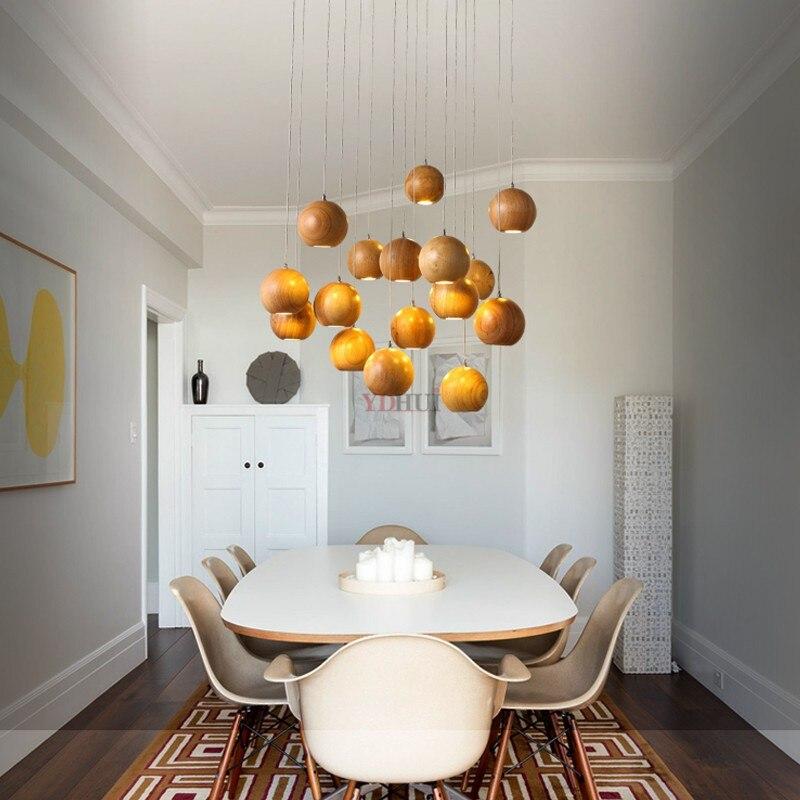 Moderne massivholz hängen anhänger lichter Nordic minimalistischen wohnzimmer deco hanglamp anhänger lampe Restaurant beleuchtung leuchte