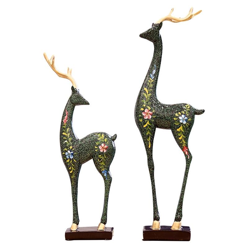 Креативная полимерная подставка для вина украшения с оленями Европа и Гостиная Кабинет маленькая мебель украшения для дома новые подарки д... - 3